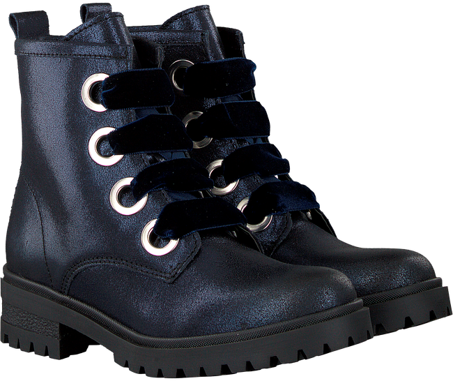 Blauwe TOMMY HILFIGER Veterboots METALLIC CLEATED LACE UP BOOT - large