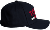 Blauwe TOMMY HILFIGER Pet TJU FLOCK PRINT CAP - small