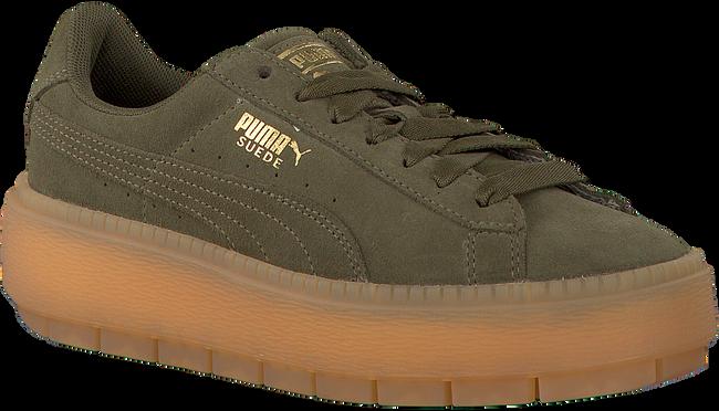 Groene PUMA Sneakers PLATFORM TRACE WMN  - large