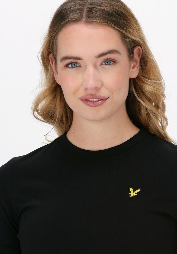Zwarte LYLE & SCOTT Mini jurk T-SHIRT DRESS  - larger
