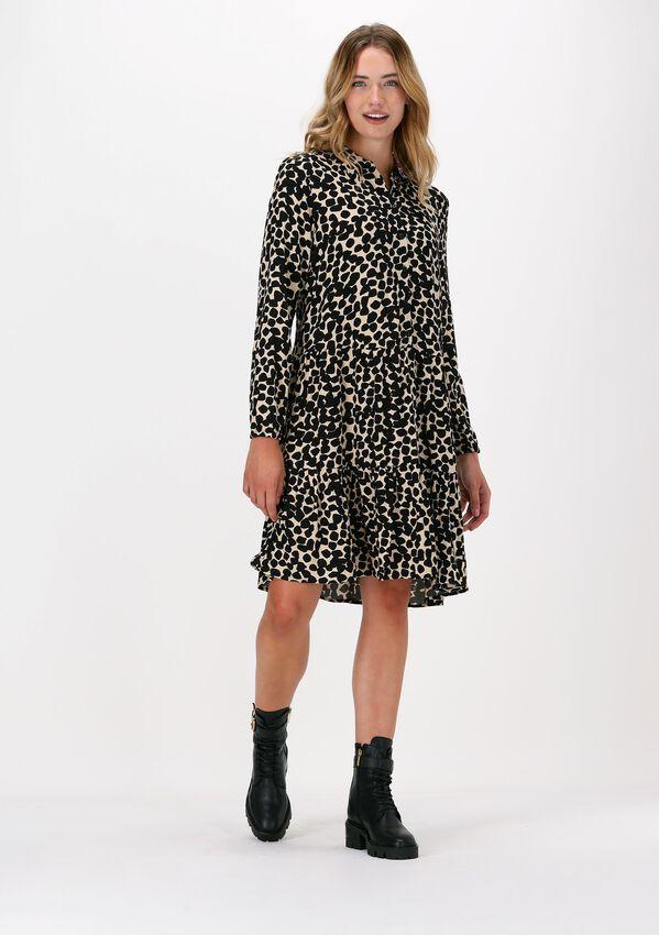 Zwarte MSCH COPENHAGEN Mini jurk BAHIRA JALINA SHORT DRESS AOP - larger