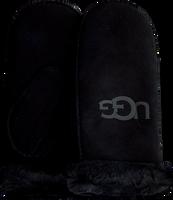 Zwarte UGG Handschoenen SHEEPSKIN LOGO MITTEN  - medium