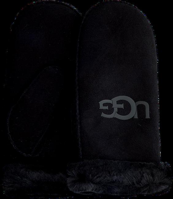 Zwarte UGG Handschoenen SHEEPSKIN LOGO MITTEN  - large