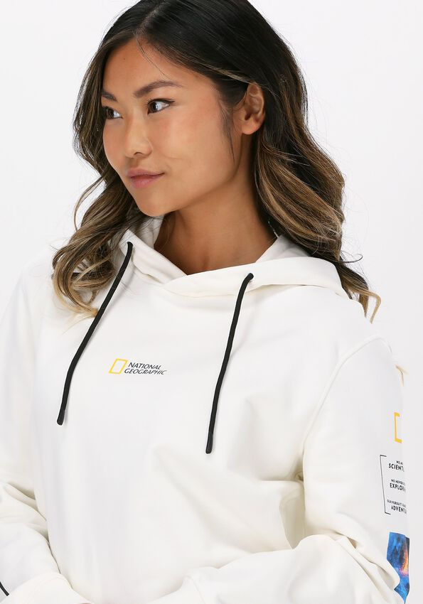 Witte NATIONAL GEOGRAPHIC Sweater HOODY WITH CORD  - larger