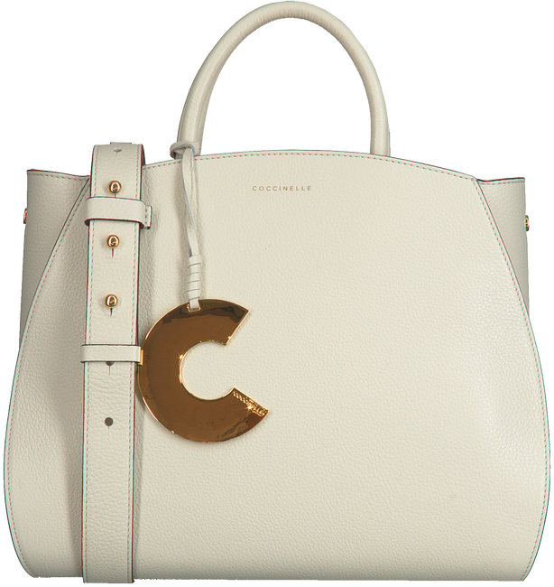 Witte COCCINELLE Handtas CONCRETE MEDIUM - large