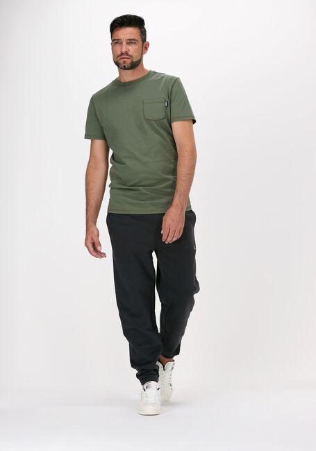 Donkergroene KULTIVATE T-shirt TS DAMON - large