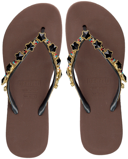 Taupe UZURII Slippers BLACK STAR - large