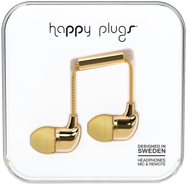 Gouden HAPPY PLUGS Overig IN-EAR - large