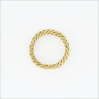 Gouden NOTRE-V Ring RING KLEINE SCHAKEL  - medium