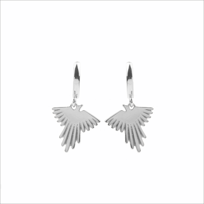 Zilveren ATLITW STUDIO Oorbellen SOUVENIR EARRINGS EAGLE - large