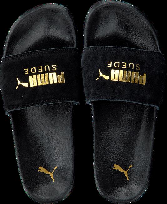 Zwarte PUMA Slippers LEADCAT SUEDE MEN - large