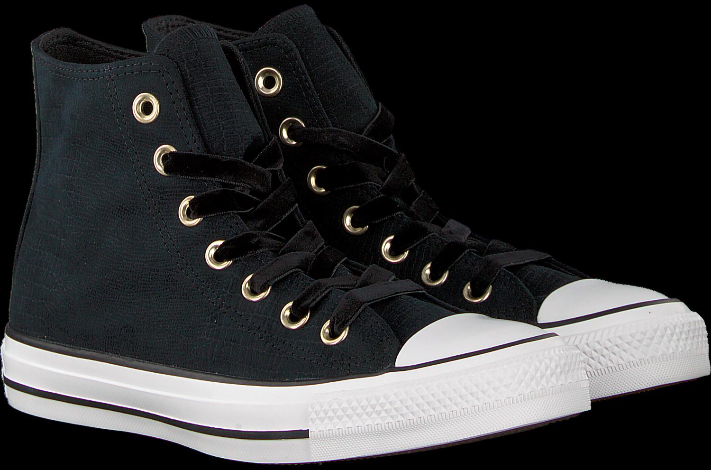 01a12b61bbf Zwarte CONVERSE Sneakers CHUCK TAYLOR ALL STAR HI DAMES - Omoda.nl