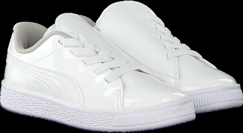 Witte PUMA Sneakers BASKET CRUSH PATENT AC  - larger