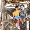 Blauwe CLARKS Veterschoenen DESERT BOOT KIDS  - small