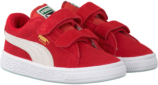 Rode PUMA Sneakers SUEDE 2 STRAPS - large
