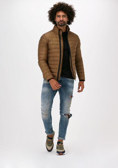 Khaki CAST IRON Gewatteerde jas SHORT JACKET TAFFETAR CONVERTI - large