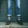 Zwarte XPOOOS Sokken ON THE ROAD - small