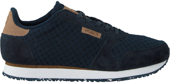 Blauwe WODEN Sneakers YDUN SUEDE MESH  - large