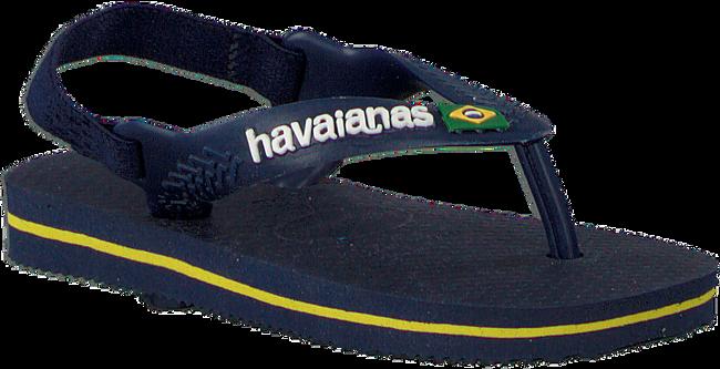 Blauwe HAVAIANAS Slippers BABY BRASIL LOGO II  - large