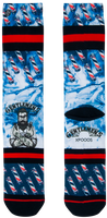 Blauwe XPOOOS Sokken BARBER  - medium
