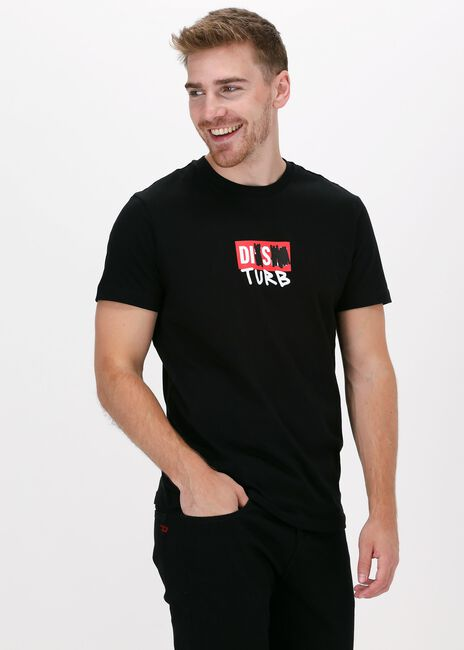 Zwarte DIESEL T-shirt T-DIEGOS-B10  - large