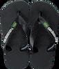 Zwarte HAVAIANAS Slippers BRASIL LOGO KIDS  - small