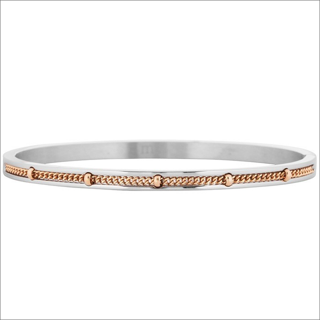 Zilveren MY JEWELLERY Armband CHAIN DOTS BANGLE - large