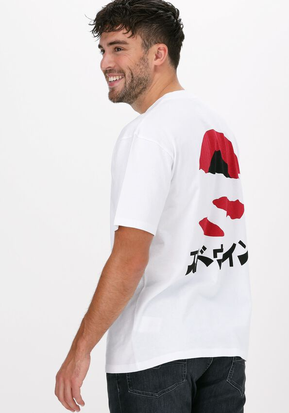 Witte EDWIN T-shirt KAMIFUIJ TSLAC  - larger