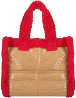 Beige STAND Schoudertas LOLITA TEDDY BAG  - medium