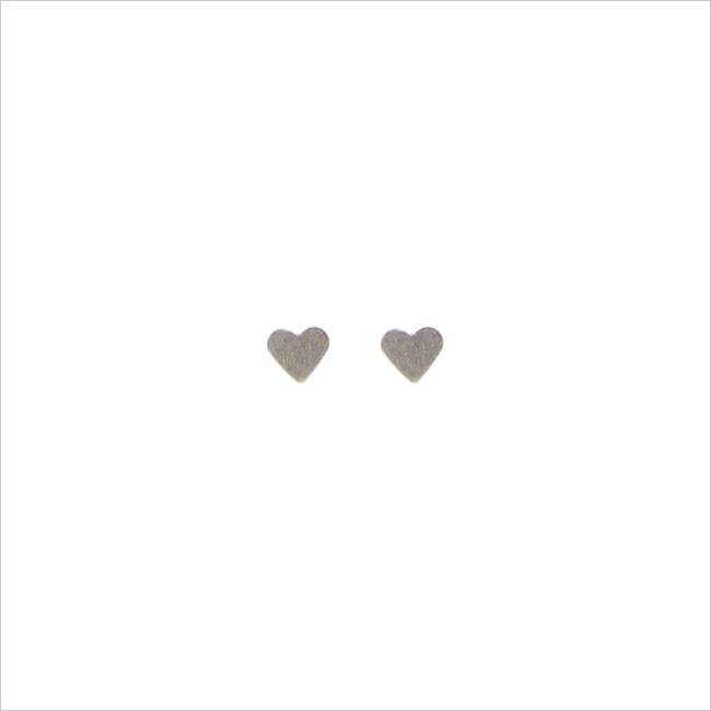 Zilveren ALLTHELUCKINTHEWORLD Oorbellen PETITE EARRINGS HEART - large