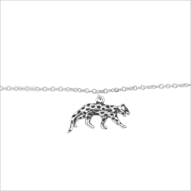 Zilveren ALLTHELUCKINTHEWORLD Armband SOUVENIR BRACELET LEOPARD - large
