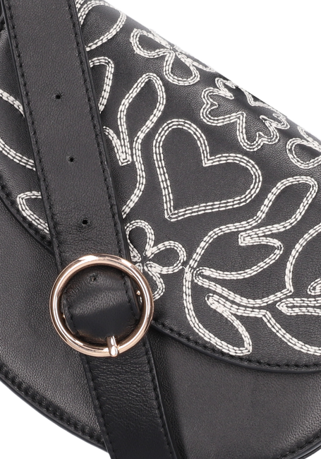 Zwarte FABIENNE CHAPOT Schoudertas ANAIS BAG EMBROIDERED  - large