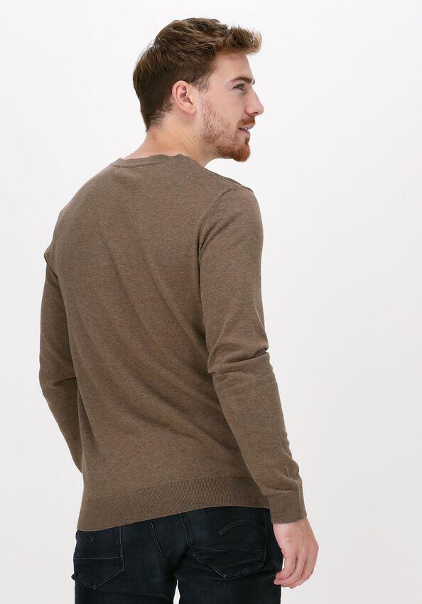Bruine SELECTED HOMME Trui BERG CREW NECK - larger