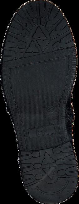 Zwarte APPLES & PEARS Enkellaarsjes EZRA  - large