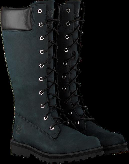 Zwarte TIMBERLAND Hoge sneaker COURMA KID GIRLS TALL ZIP  - large