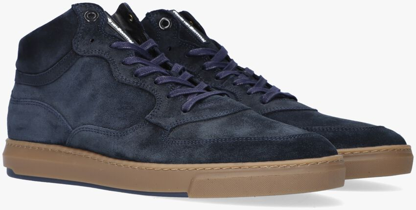 Blauwe FLORIS VAN BOMMEL Hoge sneaker 20325  - larger