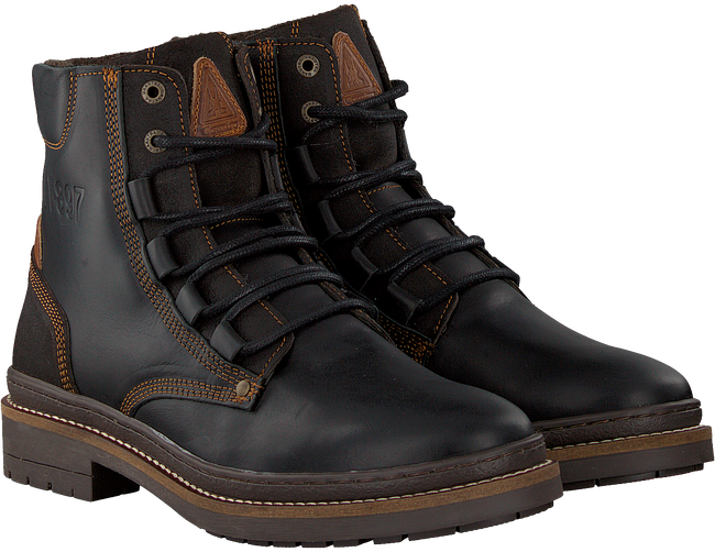 Zwarte GAASTRA Veterboots TRAVIS HIGH  - large