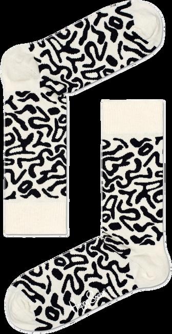 Witte HAPPY SOCKS Sokken ARTSY SOCK - large