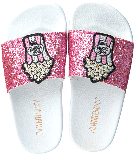 Roze THE WHITE BRAND Slippers GLITTER KIDS - large