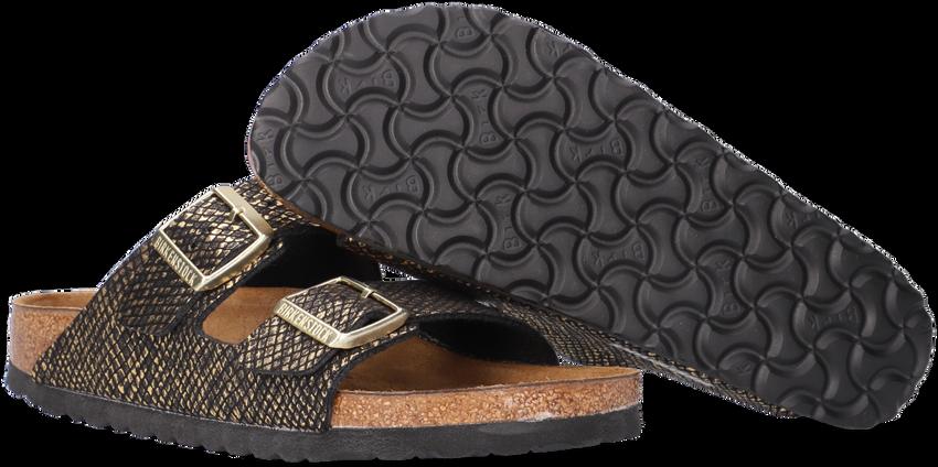 Zwarte BIRKENSTOCK Slippers ARIZONA MF SHINY PYTHON BLACK  - larger