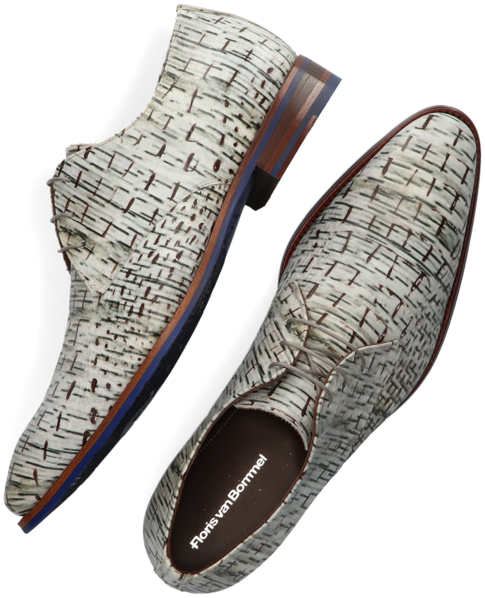 Witte FLORIS VAN BOMMEL Nette schoenen 18089  - larger