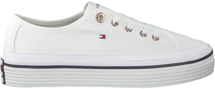 Witte TOMMY HILFIGER Sneakers CORPORATE FLATFORM - larger