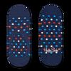 Blauwe HAPPY SOCKS Sokken DOT LINER  - small