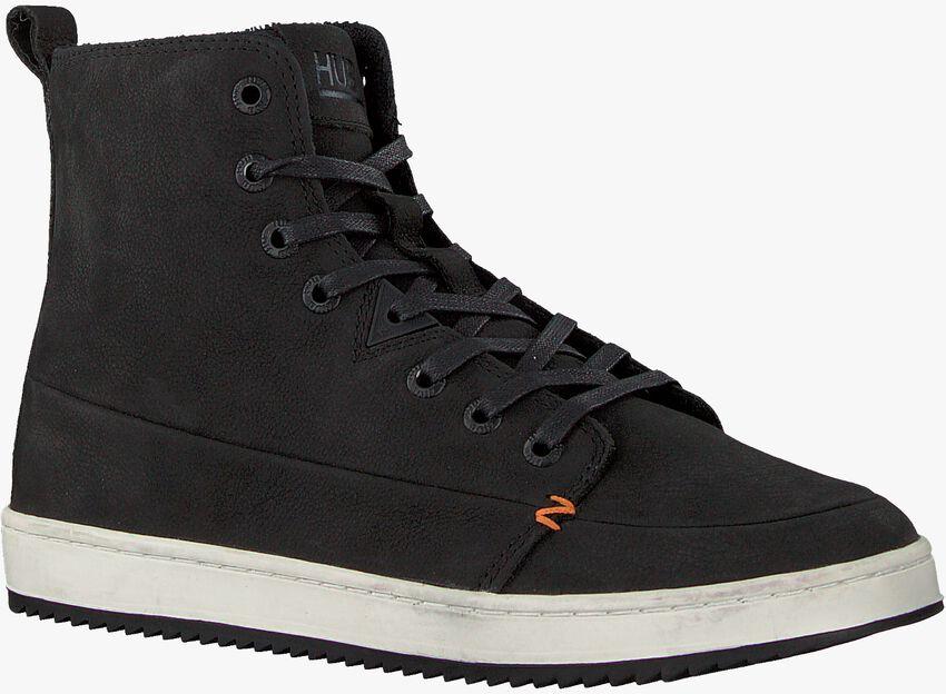 Zwarte HUB Hoge sneaker BASE  - larger