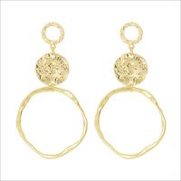 Gouden MY JEWELLERY Oorbellen VINTAGE STATEMENT EARRINGS - medium