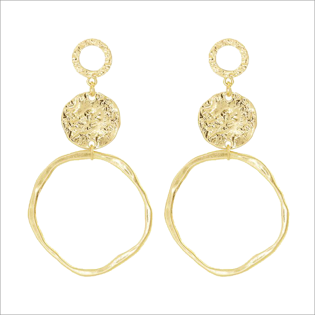 Gouden MY JEWELLERY Oorbellen VINTAGE STATEMENT EARRINGS - large