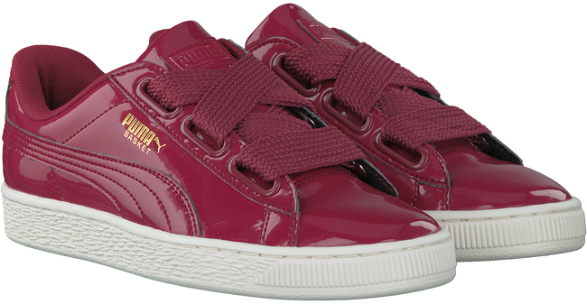 Roze PUMA Sneakers BASKET HEART PATENT  - large