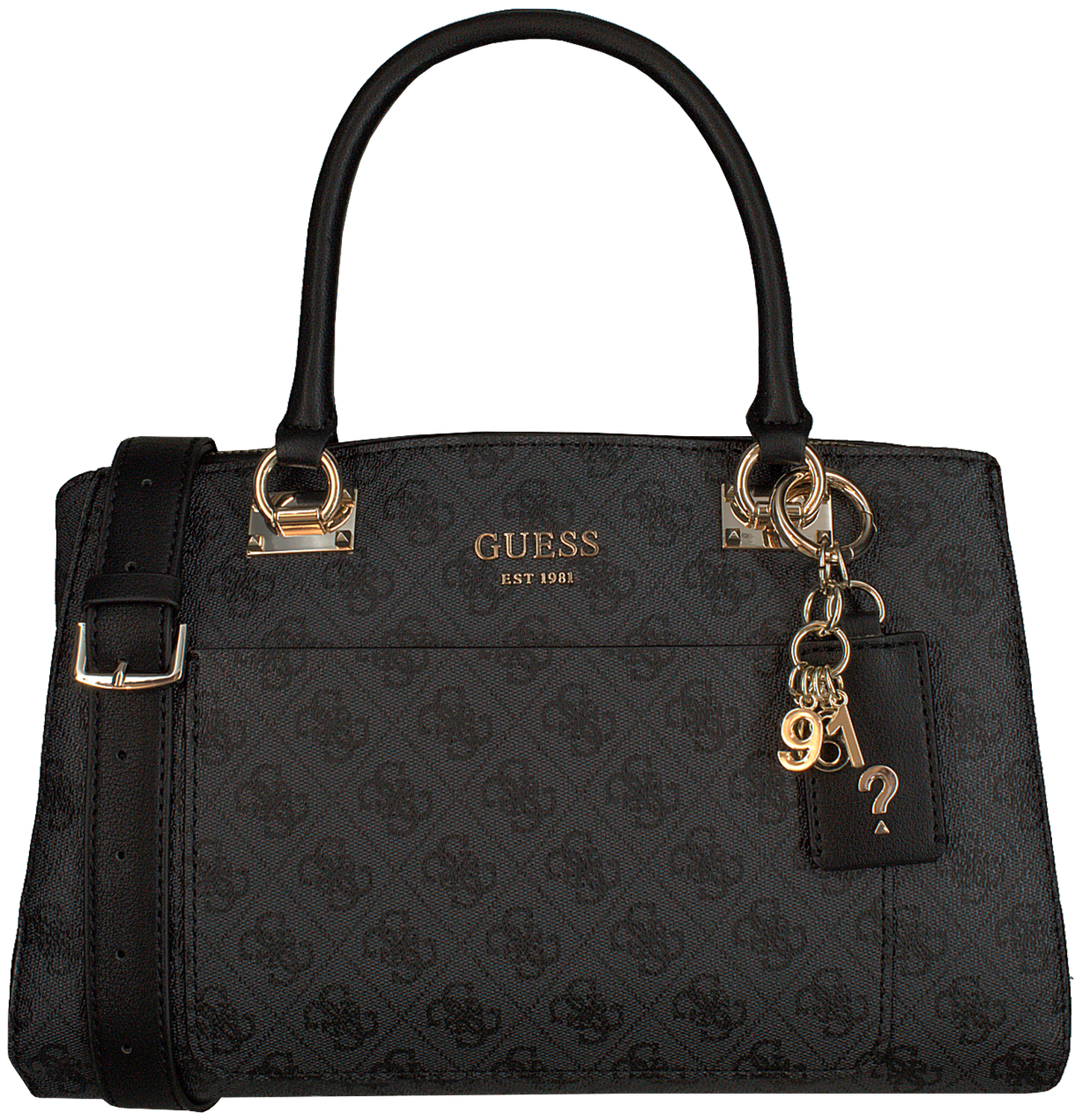 Grijze GUESS Handtas KATHRYN GIRLFRIEND SATCHEL Omoda.nl