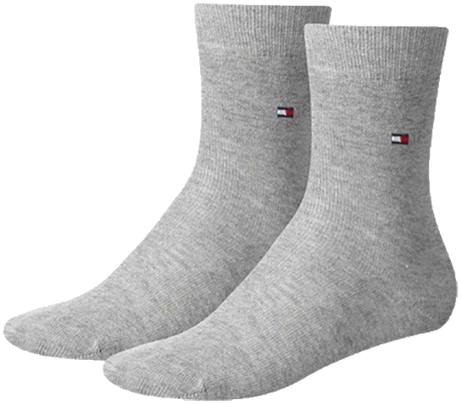 Grijze TOMMY HILFIGER Sokken TH CHILDREN SOCK TH BASIC 2P - large