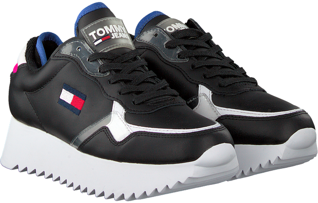 Zwarte TOMMY HILFIGER Lage sneakers HIGH CLEATED TOMMY JEANS  - large